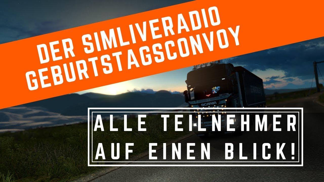 Alle Teilnehmer auf einem Blick! I SimLiveRadio Geburtstagsconvoy vom 30. September
