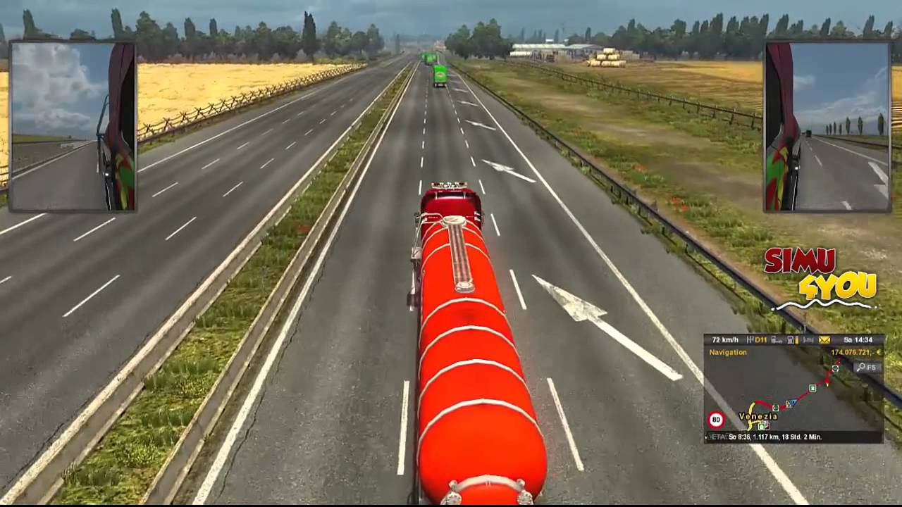 Euro Truck Simulator 2 Multiplayer | Simu4you Convoy Teil 2| ConSec - Convoy Security