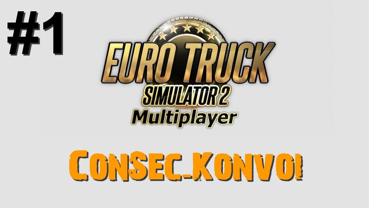 ETS2 Multiplayer: Der 1. ConSec-Konvoi #1