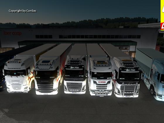 ETS Konvoi der Diamond Transporte