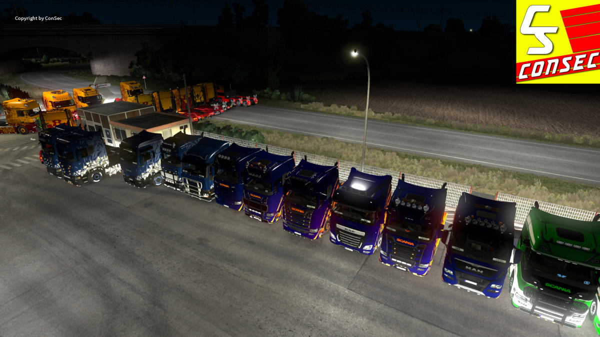 Konvoibegleitubg der Bärenstark Logistik