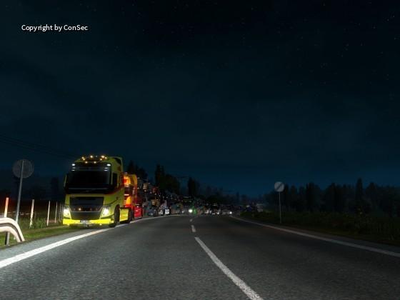 kurze Pause bei Nacht