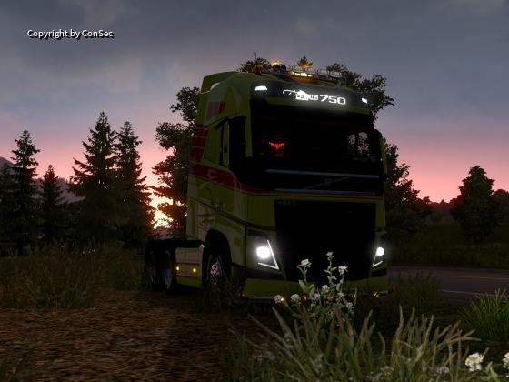 Bei Sonnenuntergang