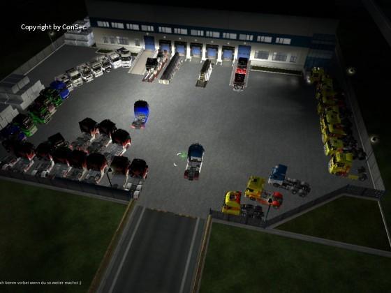 GT Transporte Convoy Am ziel