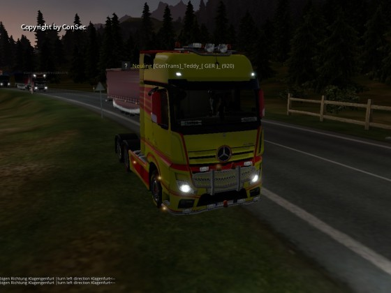 der  Convoy im vorbei fahren