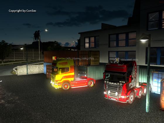 Erster Convoy von European Fire Clan