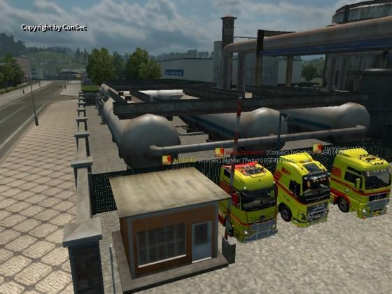 Der convoy von GT Transporte