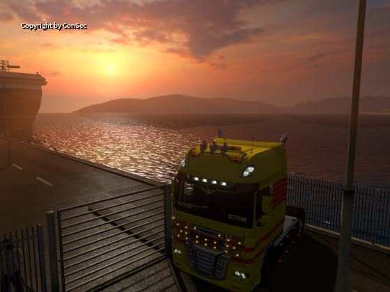 Löwenherz Konvoi  und die ConSec beim Sonnenuntergang