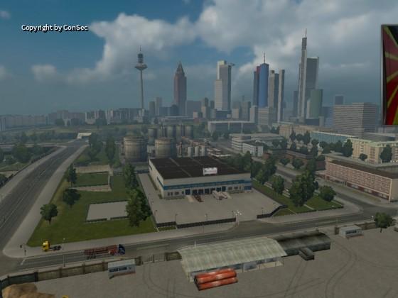 GT Transporte convoy in Frankfurt  bei der Pause