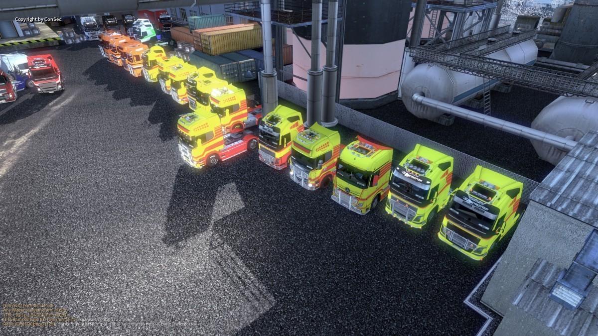 """Convoy-Begleitung """"Gebrüder Hopf Transporte"""""""