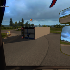 Monsterkeks beim Versuch einen Kreisverkehr zu fahren